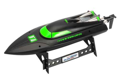 deep blue 340 2.4 GHz high-speed racing boat black