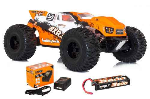 automodello bxr.mt brushless con lipo e caricatore radio 2,4ghz 4wd